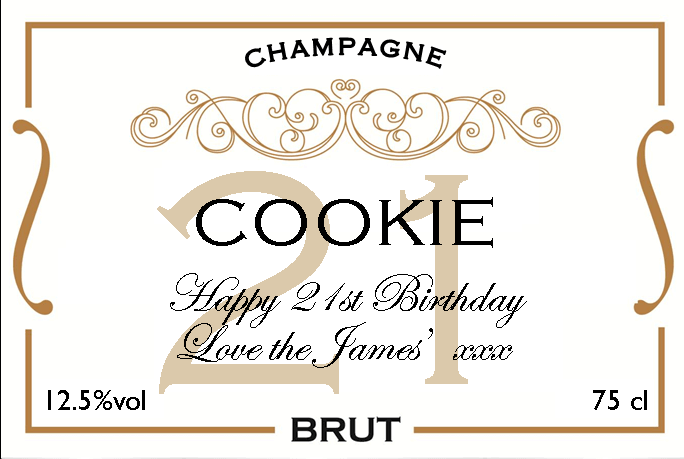 champagne cookie