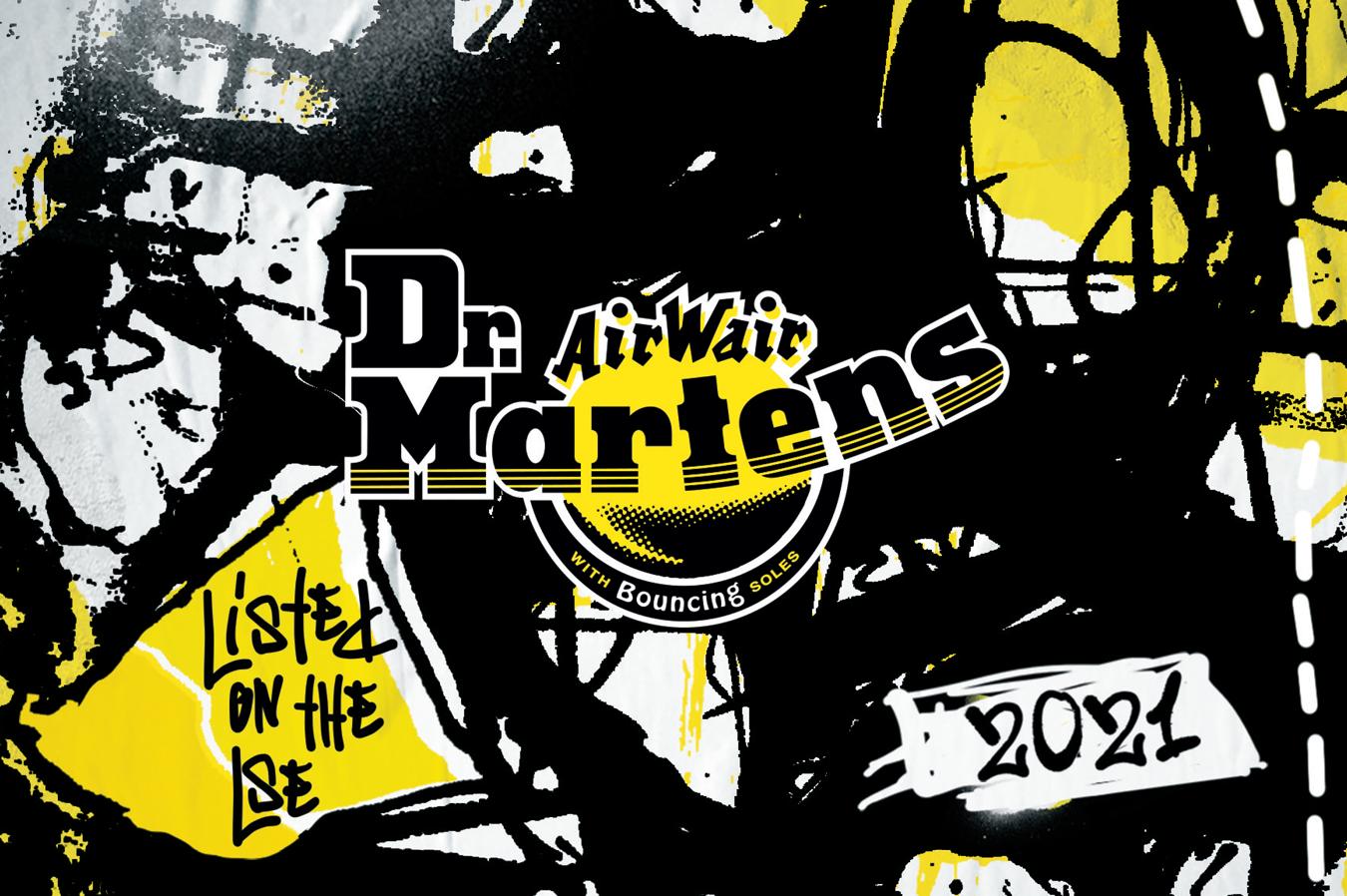 Dr Martens Branded Champagne Label