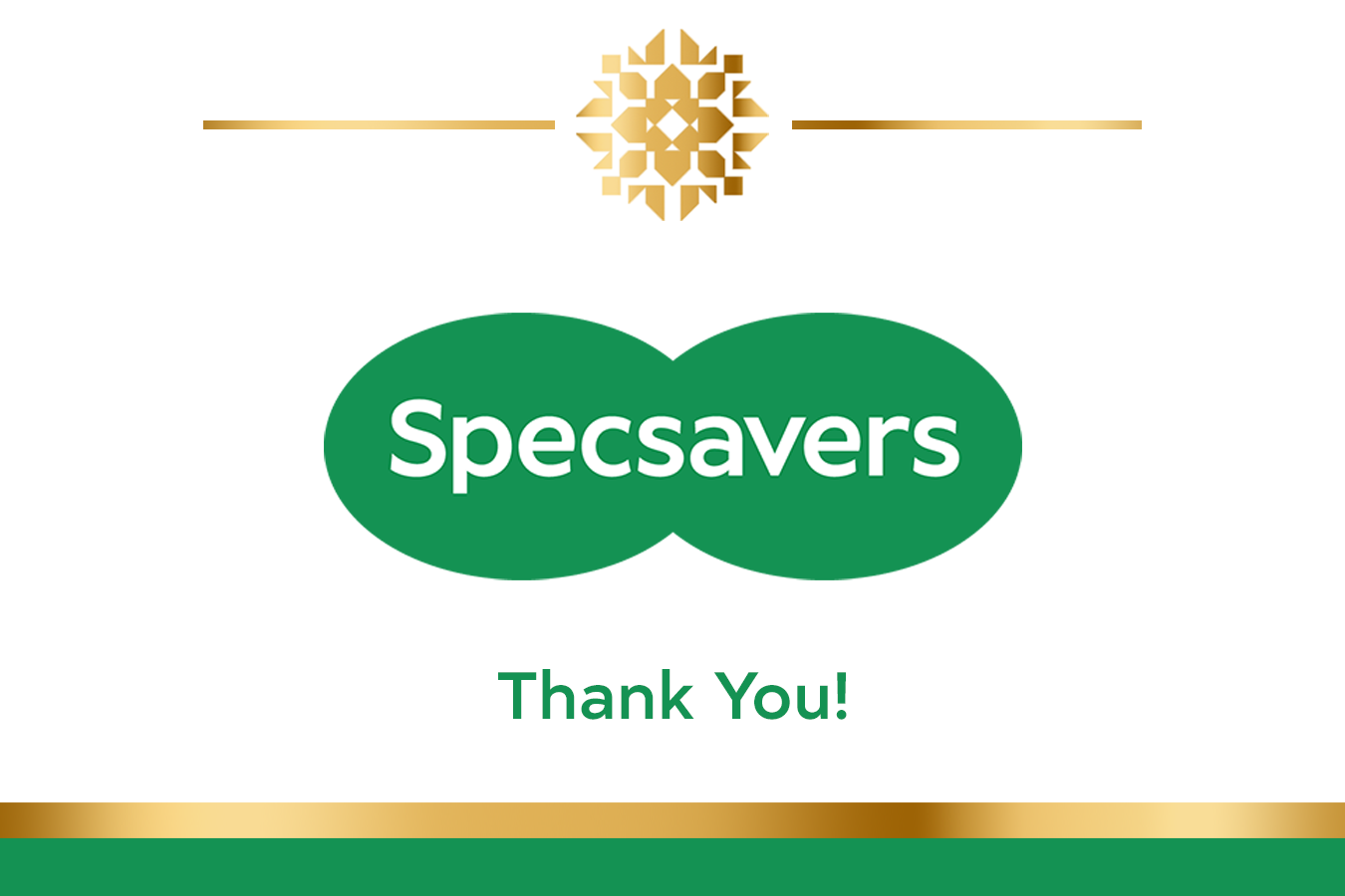 Specsavers Branded Prosecco Label