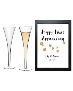 """"""" First Anniversary"""" - Personalised Wall Art"""