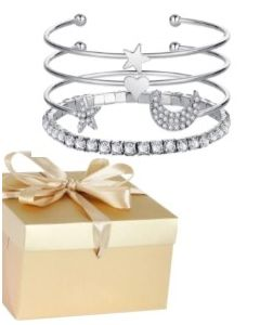 dainty-stylish-stacking-bracelets-silver-colour-with crystal-gems