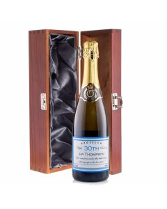 Personalised Prosecco in Wooden Box