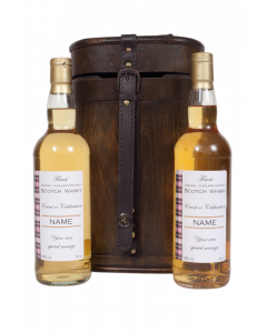 """The """"Kensington"""" - Duo of Personalised Blended Scotch Whisky in Vintage Bottle Case"""