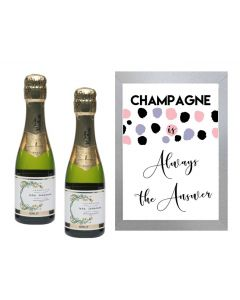 """""""Champagne is Always the Answer"""" - Inspirational Wall Art"""