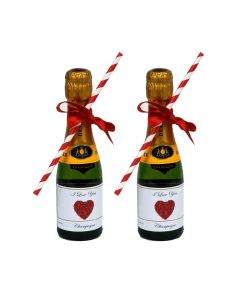 2-mini-champagne-bottle-with-bow-and-straw