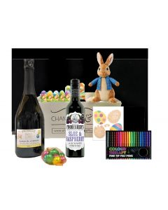 Easter-Personalised-Prosecco-Hamper-with-bunny-and-delightful-goodies
