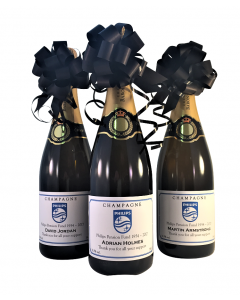 branded-champagne-three-bottles-with-hand-tied-bow
