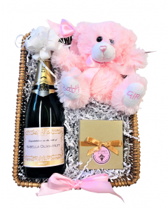 personalised-champagne-truffles-and-teddy-basket-for-mother-and-baby-girl