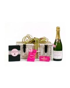 """""""Lizzie"""" Champagne and Chocolates - & Little Book of Chocolate Hamper"""
