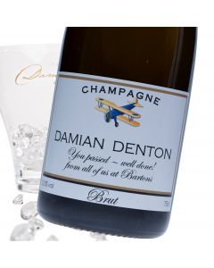 """Luxury Grande Reserve Champagne - """"Come Fly With Me?"""" Label"""