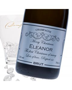 """Luxury Grande Reserve Champagne - """"Merry Christmas"""" Silver Label"""