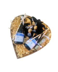 heart-hamper=with-swiss-truffles-and-personalised-mini-prosecco