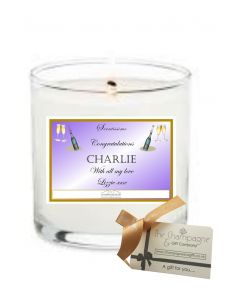 """""""Congratulations"""" Luxury Scented Personalised Candle - Create Your Own Label"""