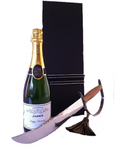 Personalised Champagne and Sabre in box
