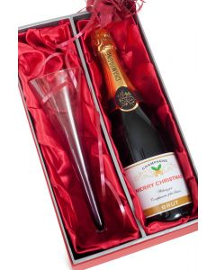 Personalised Champagne & Champagne Flute Gift Set