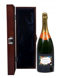 Personalised Christmas Champagne Magnum in Cambridge Presentation Box