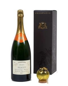 """Personalised Champagne Magnum150cl - with """"Keep The Cork"""" Congratulations Glass Bauble"""