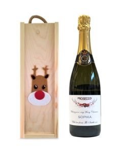 Rudolph-christmas-gift-personalised-prosecco