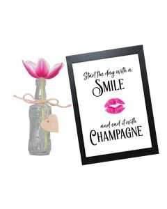 """""""Start the Day with a Smile"""" - Inspirational Wall Art"""