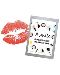 Inspirational Wall Art WA31 - A Smile is the Best Make Up A Girl Can Wear