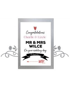 """""""On your Wedding Day"""" - Personalised Wall Art"""