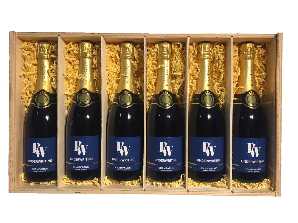 branded champagne 6 bottles