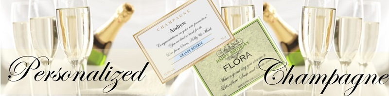 personalized champagne banner