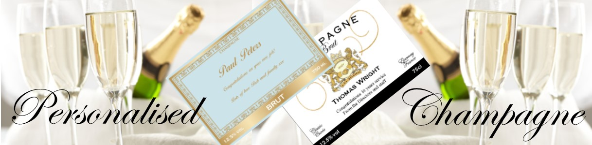 Personalised champagne banner