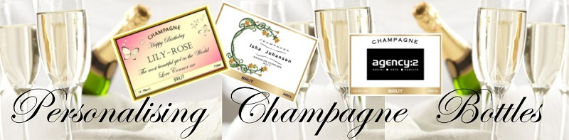 personalising champagne bottles banner