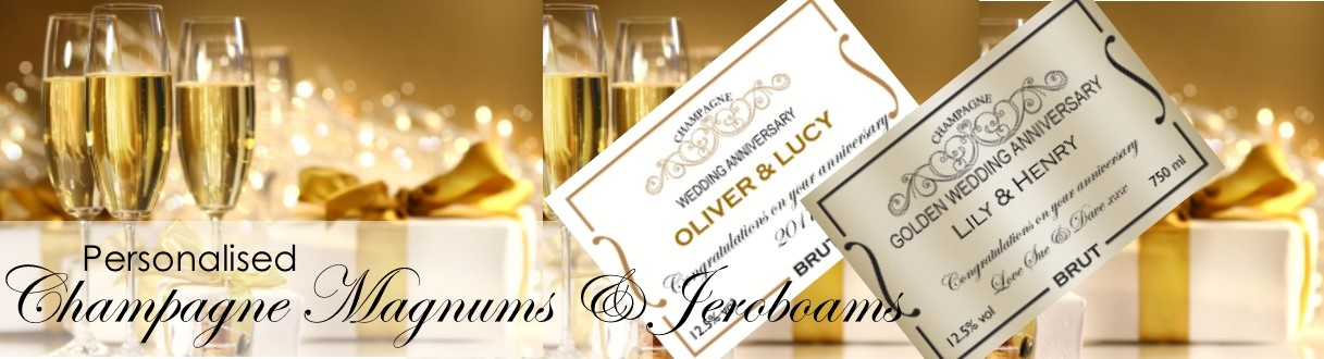 Personalised Champagne Magnums banner
