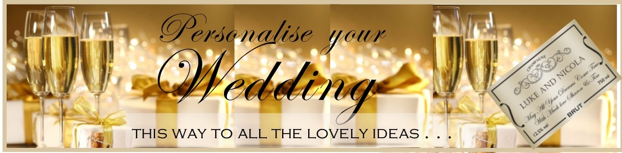 personalised wedding champagne banner