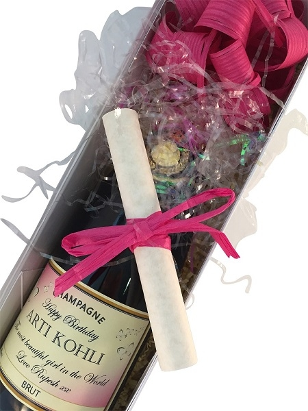 personnalised champagne beautiful packaging