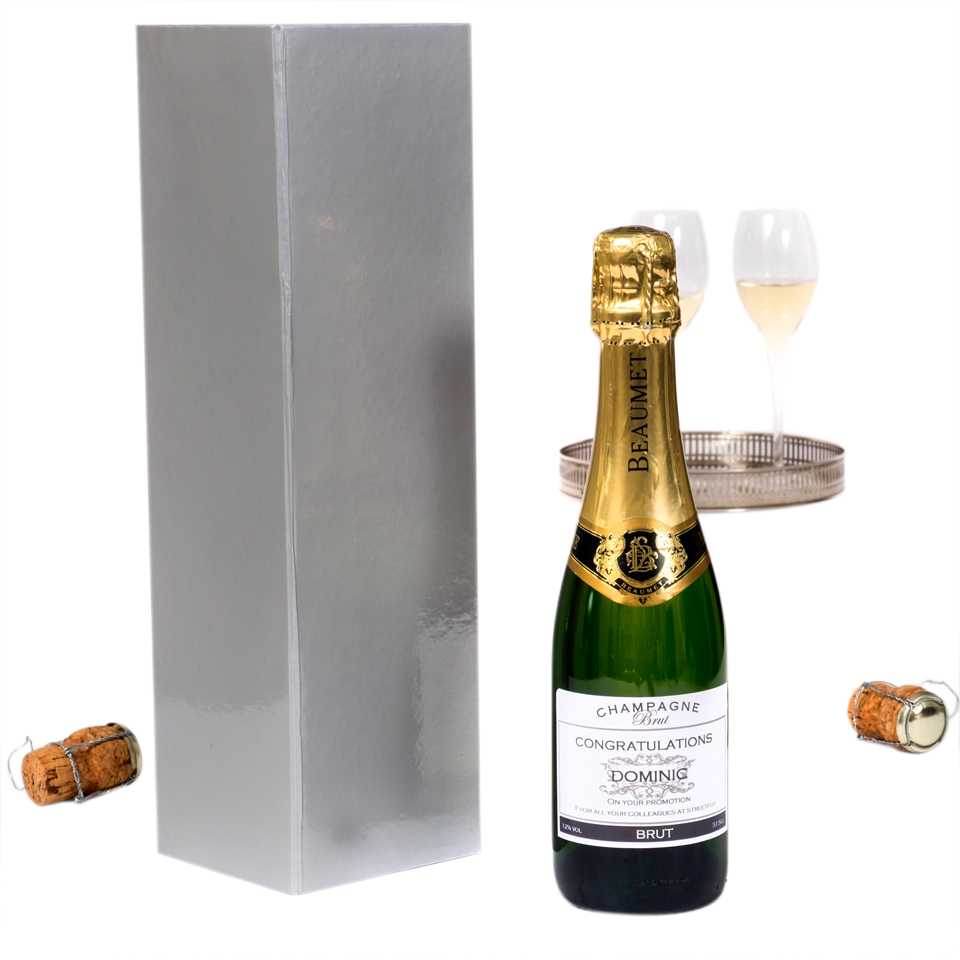Personalised Champagne half-bottle