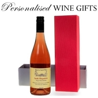 Personalised wine gift in box