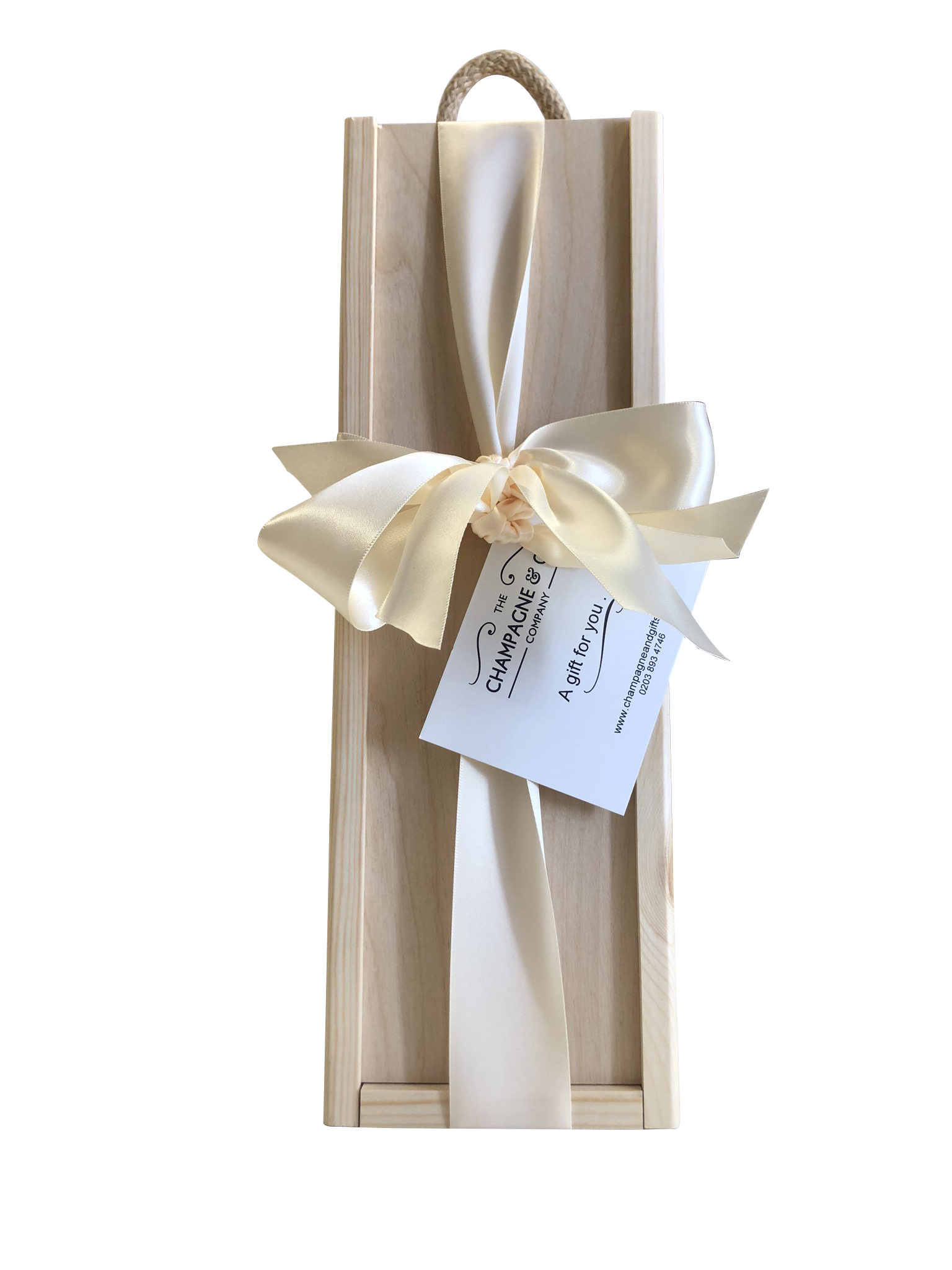 wooden champagne box