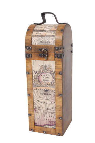 wooden champagne box mP of the world
