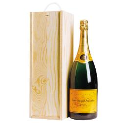 fsc wooden champagne box and bottle