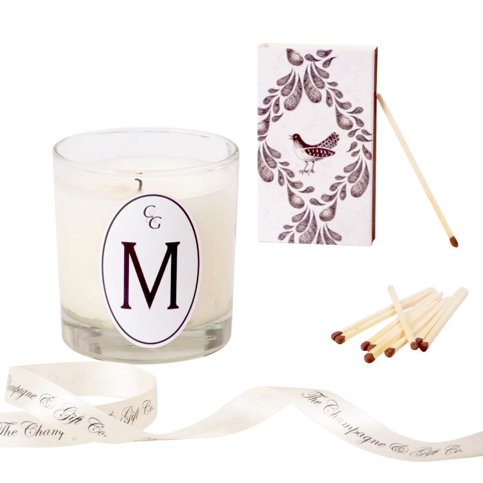 Personalised Scented candle gift with initial