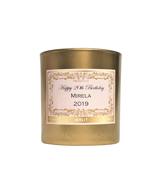 Personalised-Scented-candle-gold