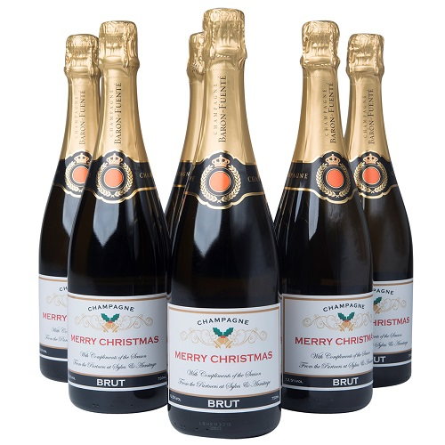 christmas business champagne
