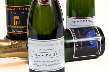 Corporate Champagne gift in presentation trunk