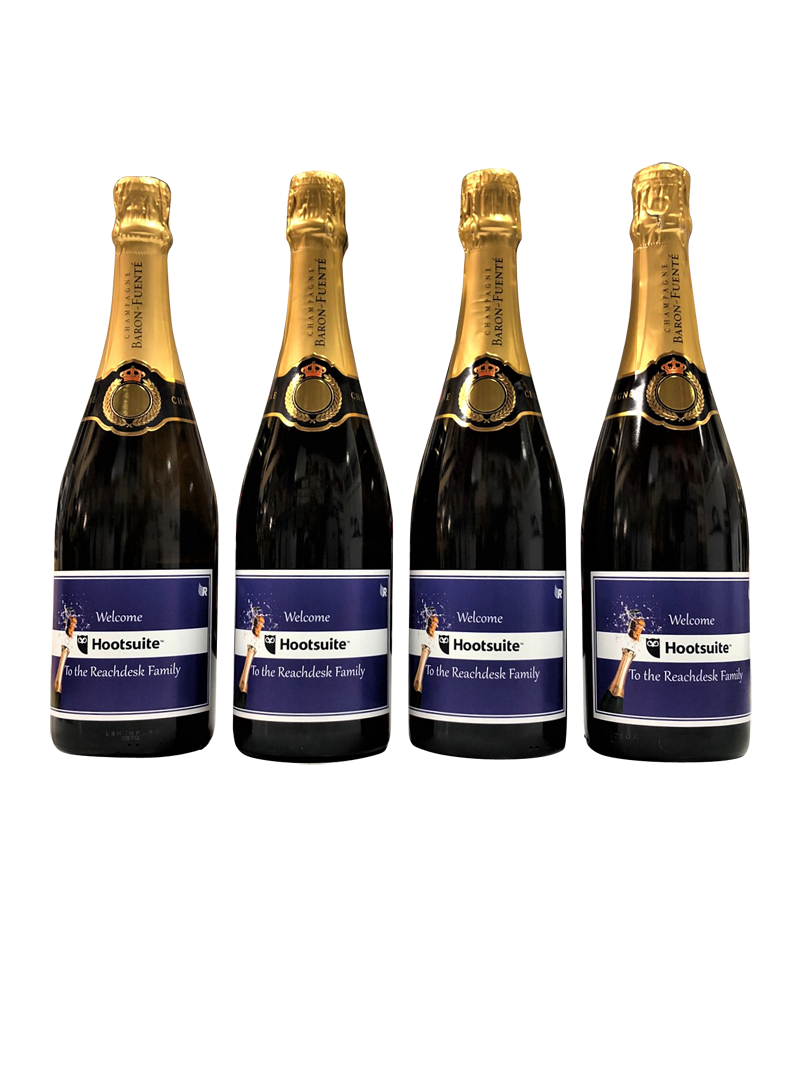 corporate promotional prosecco bottles