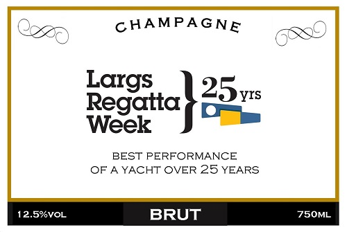 buesiness champagne label for event