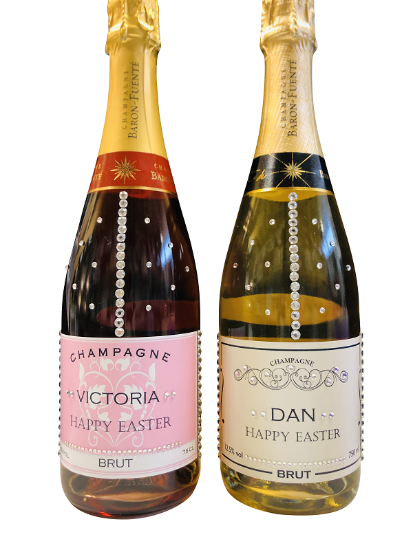 non alcoholic sparkling wine with crystal-gems