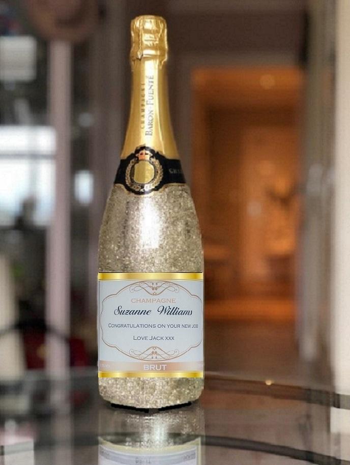 Gold glitter champagne