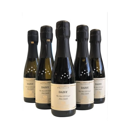 Miniature Prosecco Decorated Bottles Crystal