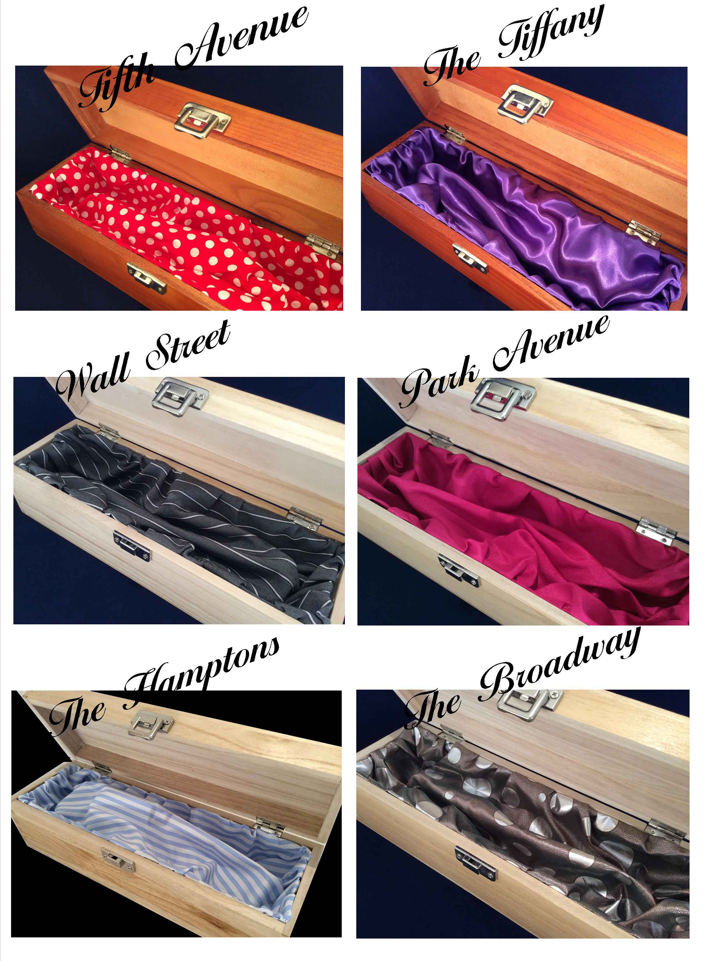 Finishing touches silk New York boxes a