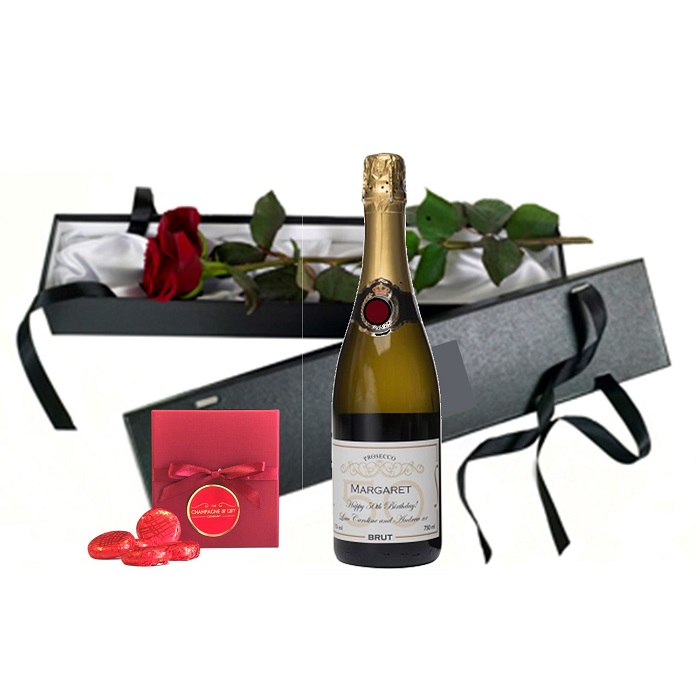 Personalised Champagne and Cholcoate Gift Set