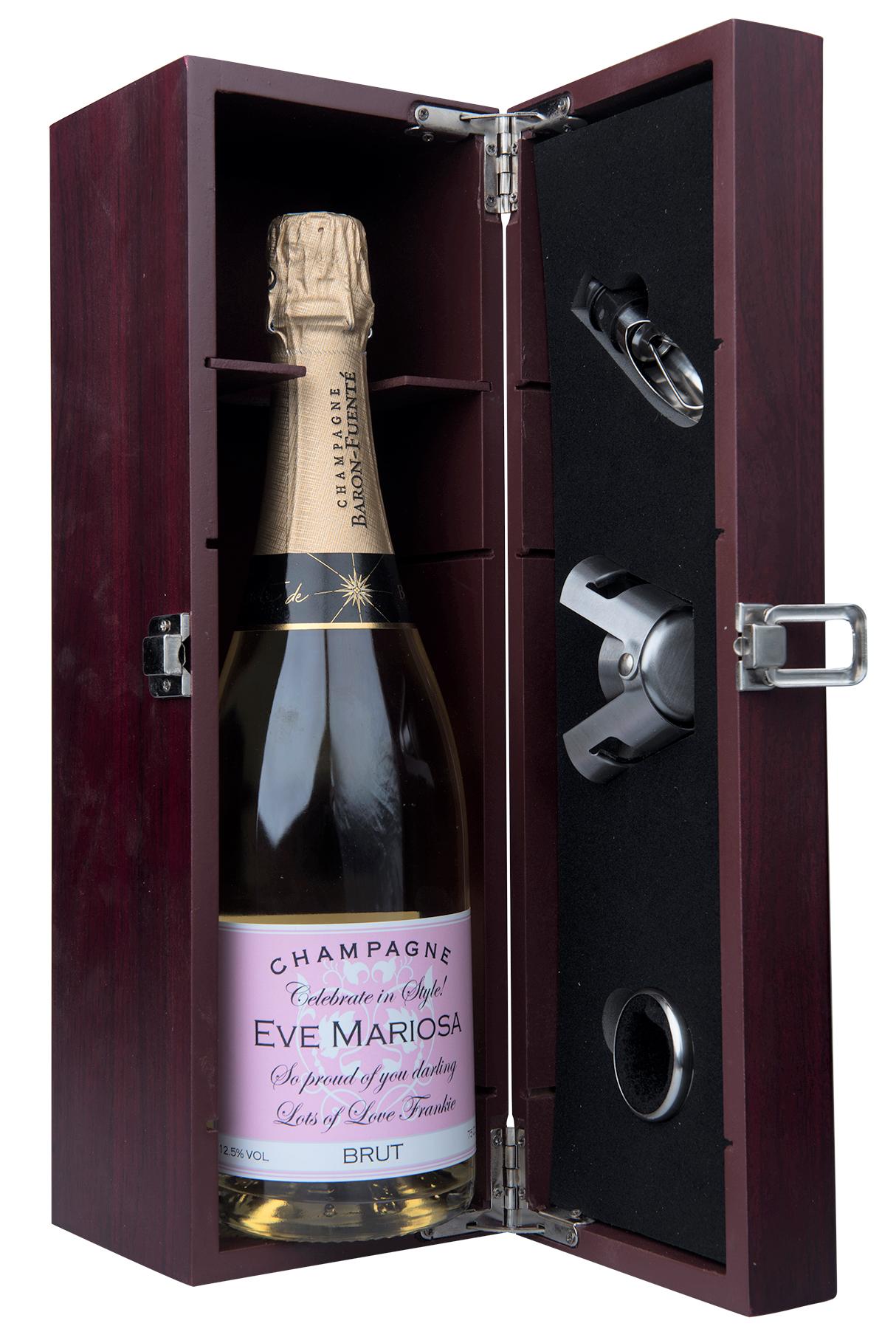 elegant champagne gift