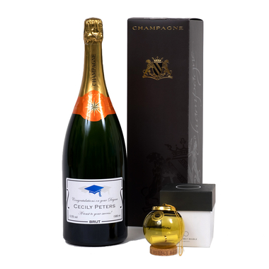 """Bespoke Graduation Champagne Gift with """"Keep The Cork"""" Bauble"""